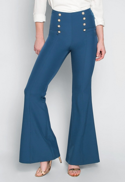 About You Pearl Button Flare Pants alternate img #1
