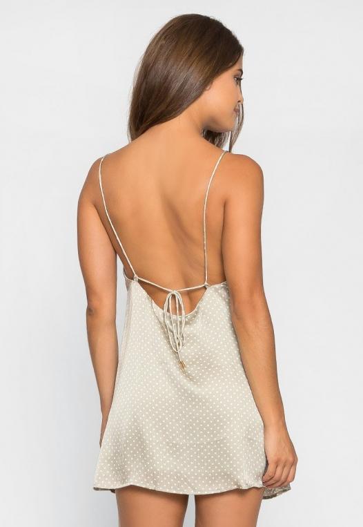 Sugar Dots Slip Dress in Gray alternate img #2