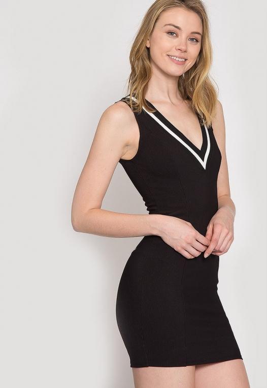 Pacific Varsity V-Neck Dress alternate img #5