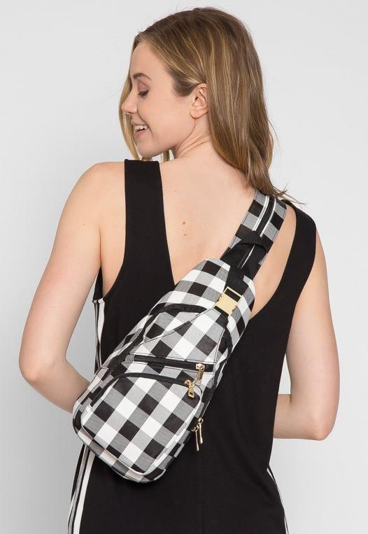 Picnic Gingham Convertible Sling Backpack alternate img #3