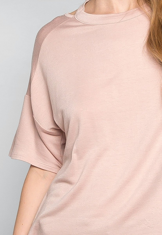 Happy Day Cut Out Knit Top in Peach alternate img #6