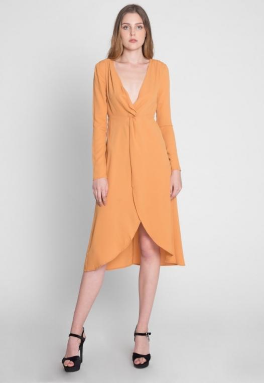 Surprise Front Twist Midi Dress alternate img #6