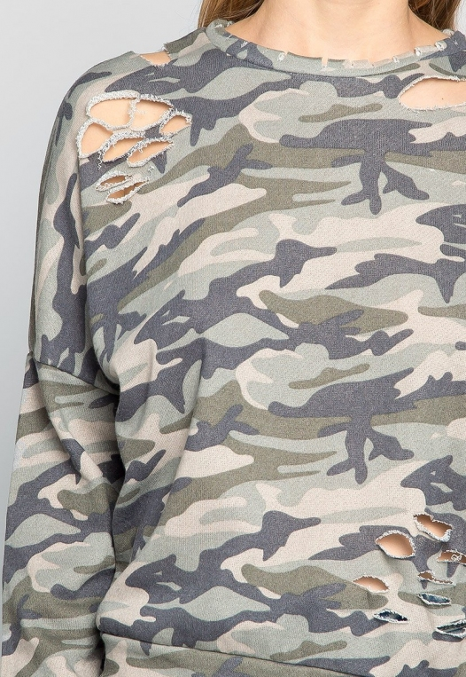Far From Home Camo Sweatshirt alternate img #6
