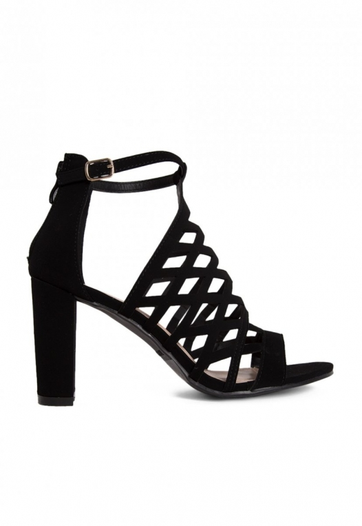 Farrow Laser Cut Ankle Boots in Black alternate img #1