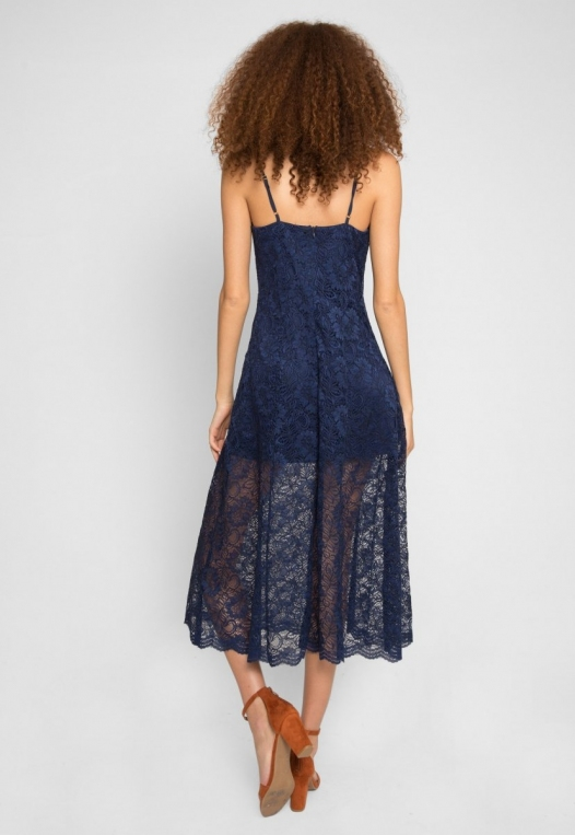Manhattan Lace Maxi Dress in Navy alternate img #3