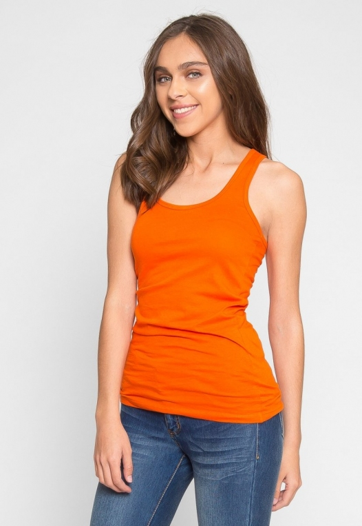Retrograde Tank Top in Orange alternate img #2