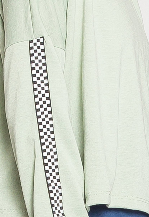 For You Checkboard Trim Knit Top in Mint alternate img #7