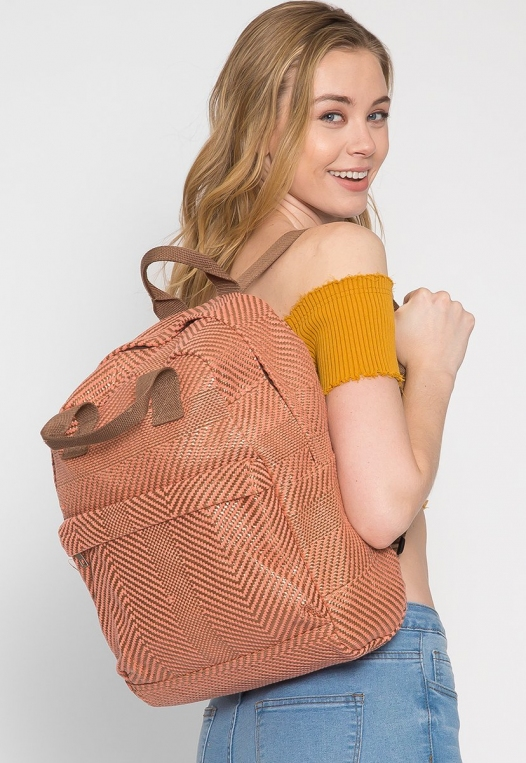 Woven Textured Backpack alternate img #2