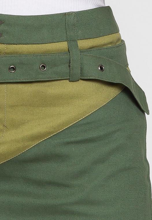 Colorblock Twill Mini Skirt alternate img #7