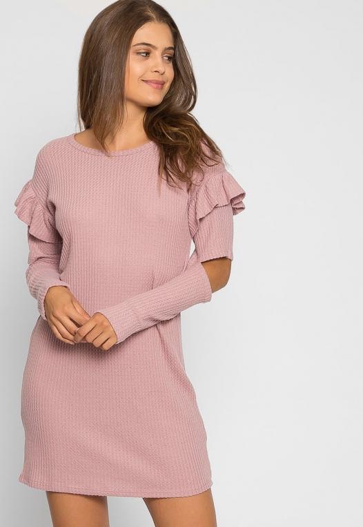Milkshake Knit Dress in Light Pink alternate img #5