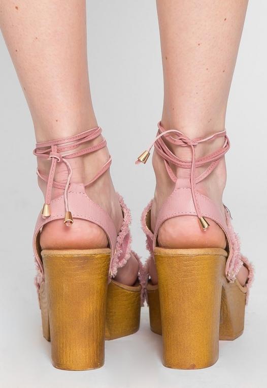 Palos Verdes Platform Heels in Blush alternate img #3