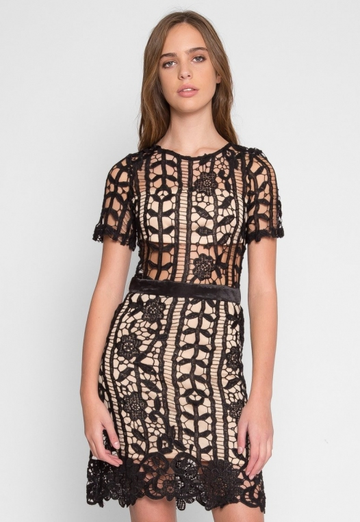 See Through Crochet Dress alternate img #2