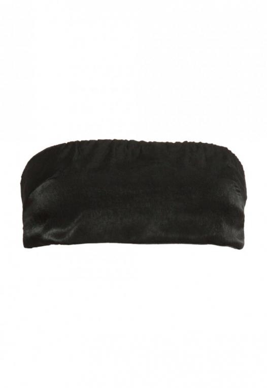 The Goods Satin Tube Top in Black alternate img #7