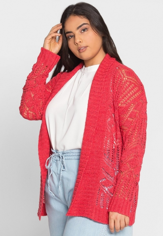 Plus Size Spring Air Crochet Cardigan alternate img #2
