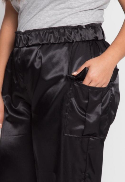 Plus Size Margot Satin Cargo Pants alternate img #6