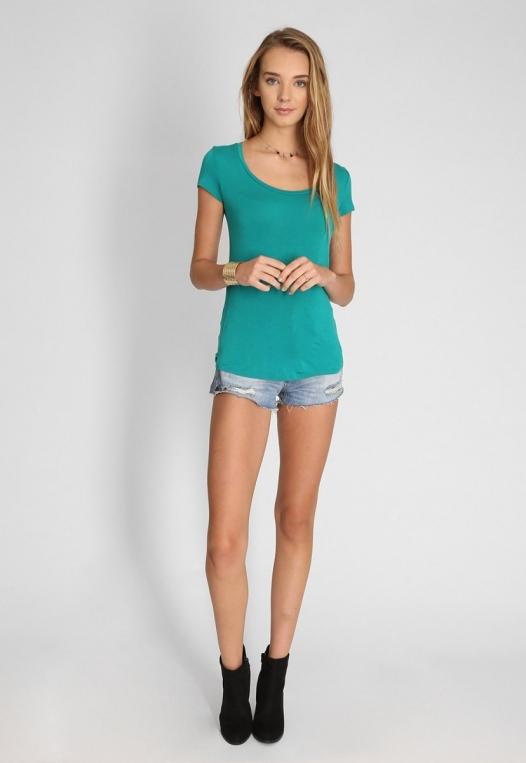 Basic t-shirt in green alternate img #4