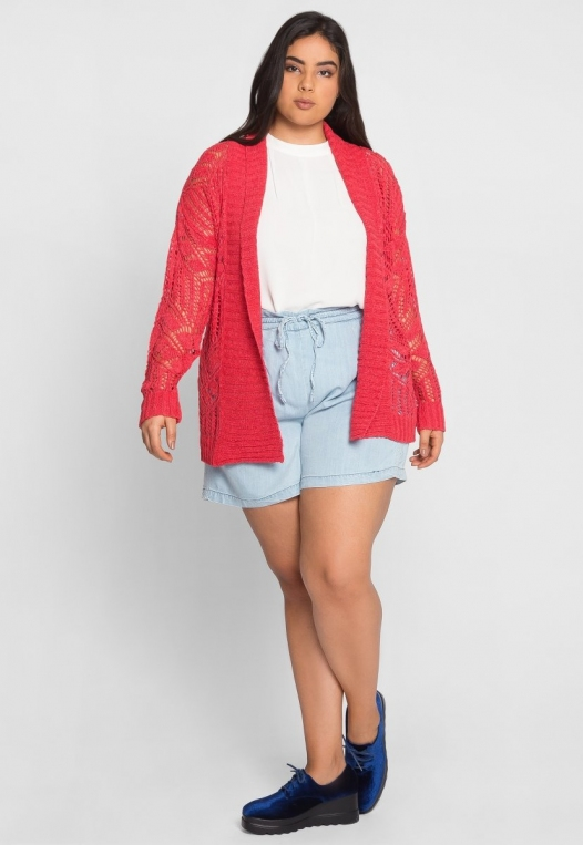 Plus Size Spring Air Crochet Cardigan alternate img #4