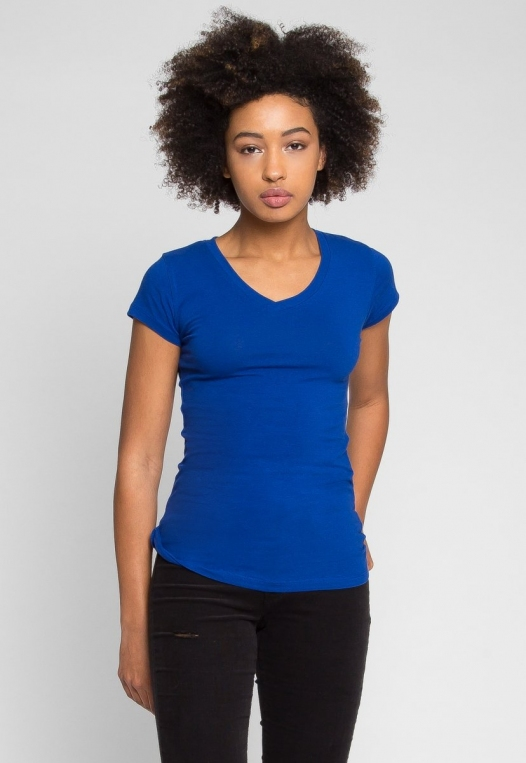Venus V-Neck Tee in Blue alternate img #2