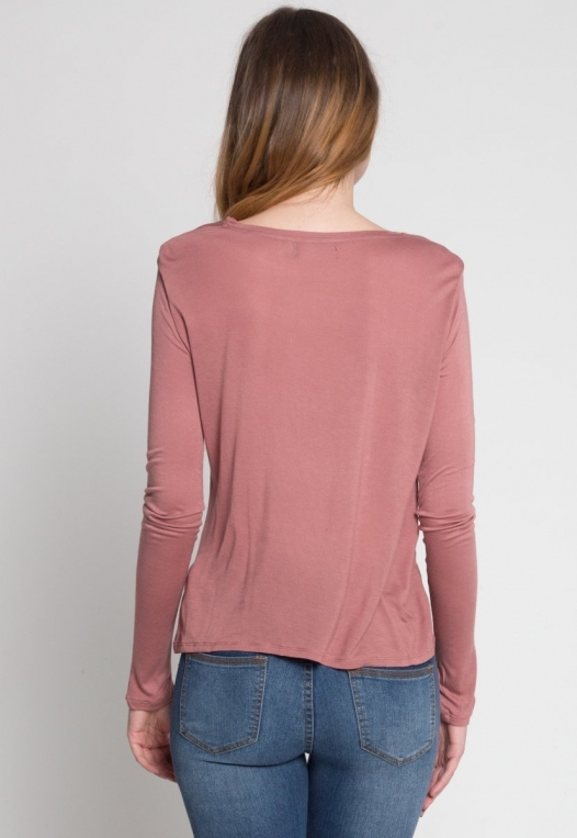 Monday Morning Jersey Knit Top in Mauve alternate img #4