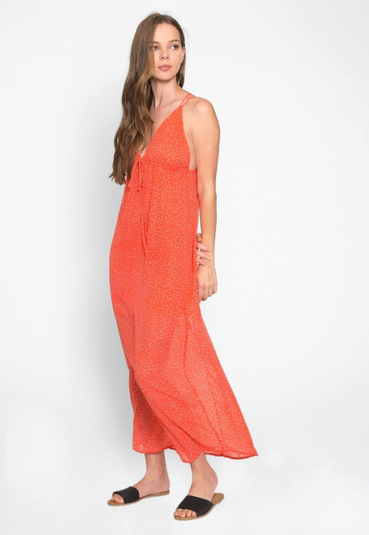 Sundae Polka Dot Chiffon Maxi Dress alternate img #4