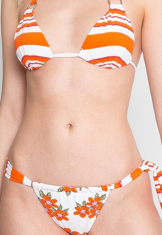 Babe Mix Stripe Floral Bikini alternate img #7