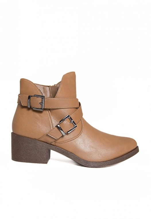 Tavern Buckle Ankle Boots in Taupe alternate img #1
