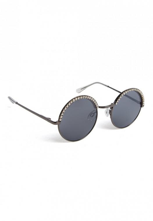 Kelly Rhinestone Round Sunglasses alternate img #4