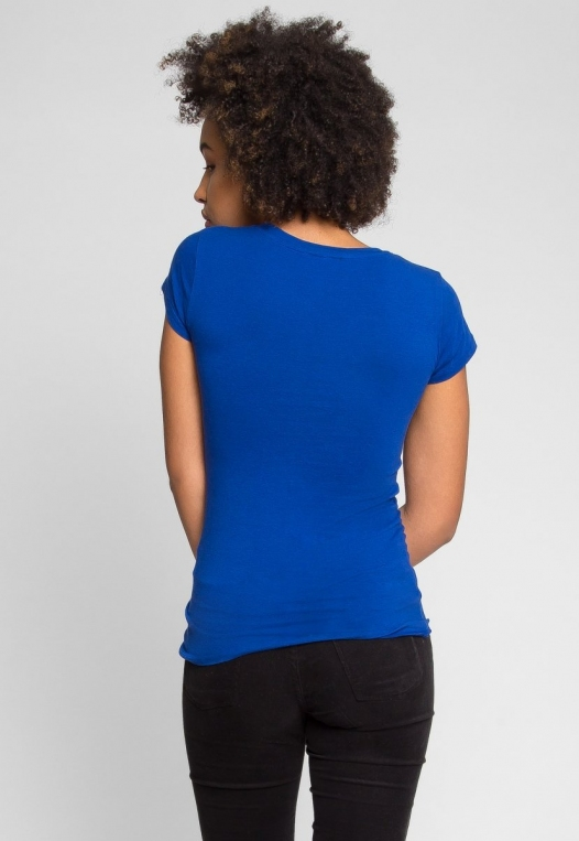 Venus V-Neck Tee in Blue alternate img #4