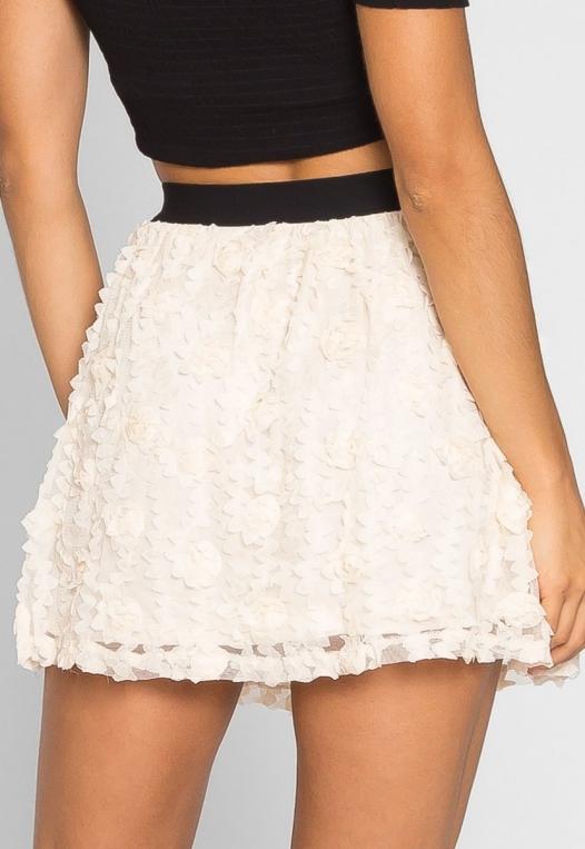 Clover Textured Mini Skirt alternate img #3