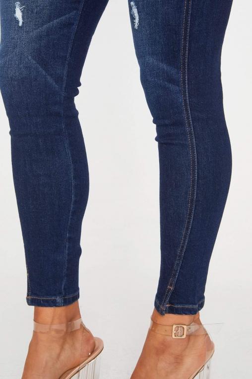 Classic Distressed Ankle Grazer Skinny Jean alternate img #5