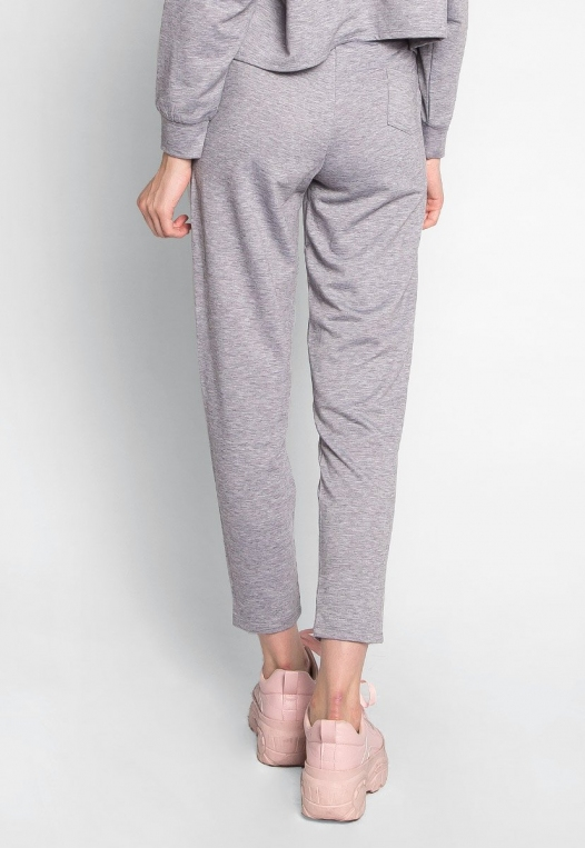 Meet Me There Heathered Joggers in Gray alternate img #2