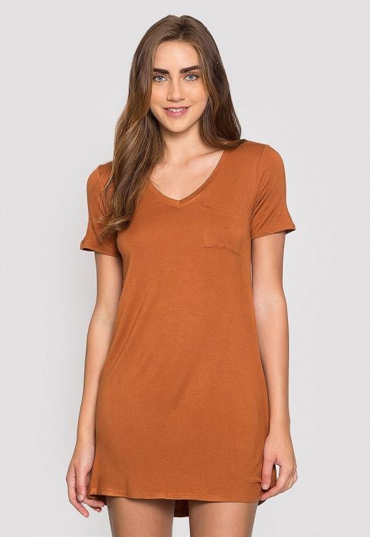 Hazelnut T-Shirt Dress alternate img #1