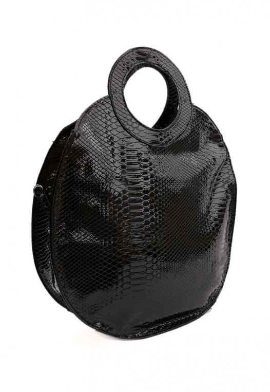 Textured Circle Handbag alternate img #4