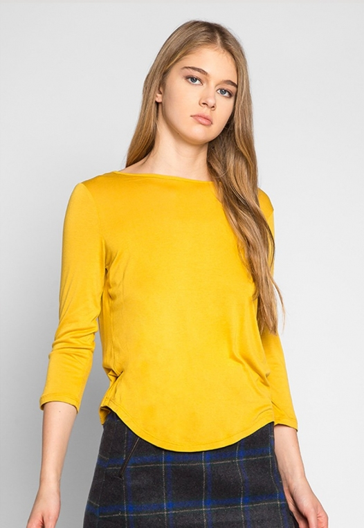 Popsicle Open Back Knit Top in Yellow alternate img #1