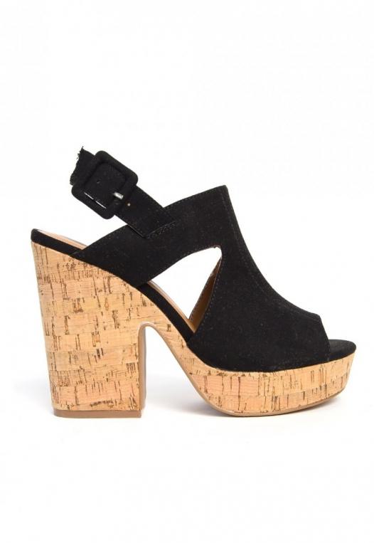 Good Stuff Cork Platform Wedge Sandals alternate img #1