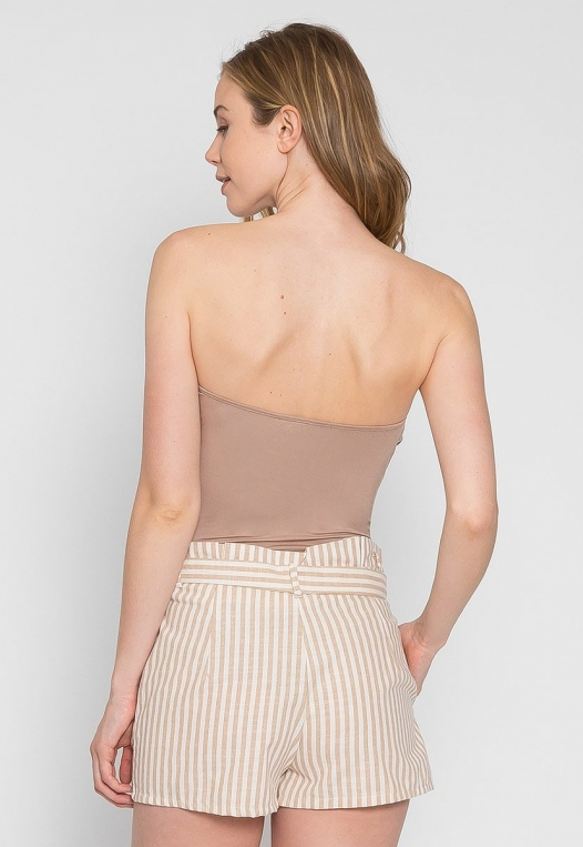 Mighty Strapless Bodysuit in Mocha alternate img #2