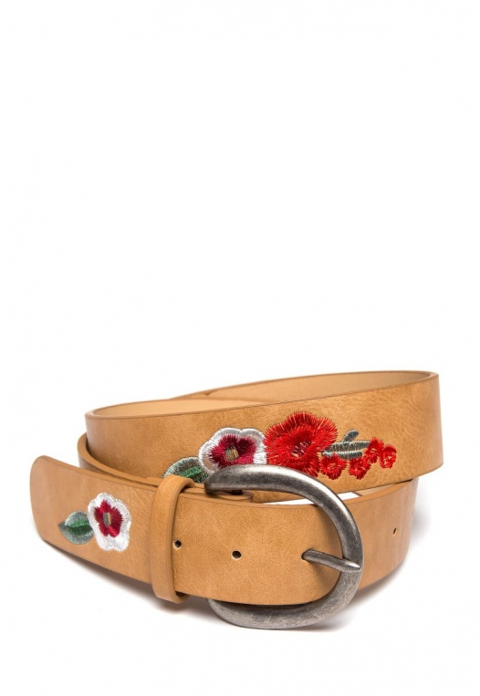 Floral Embroidered Jean Belt alternate img #1