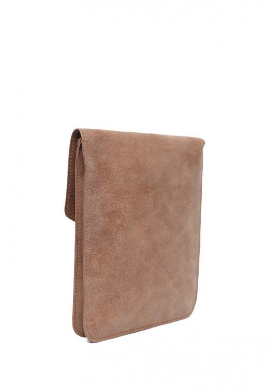 Perforated Nubuck Crossbody Bag in Brown alternate img #4