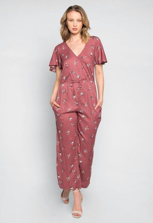 Simple Love Floral Jumpsuit alternate img #1