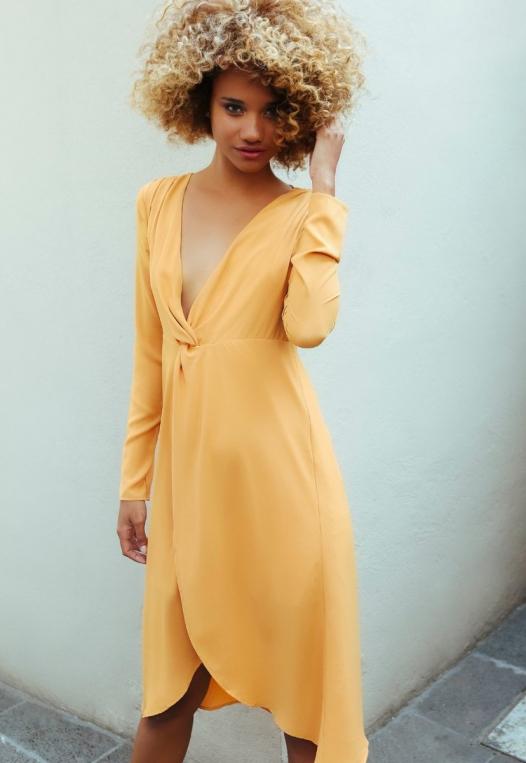 Surprise Front Twist Midi Dress alternate img #2