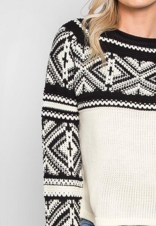Explorers Geo Pattern Sweater in Black alternate img #6
