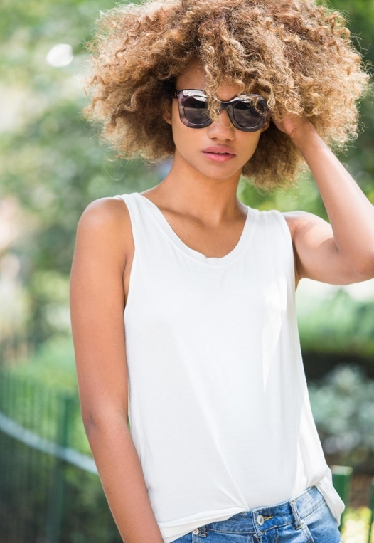 Summer Lush Tank Top in White alternate img #1