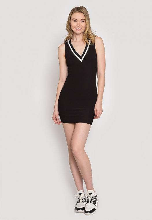Pacific Varsity V-Neck Dress alternate img #4
