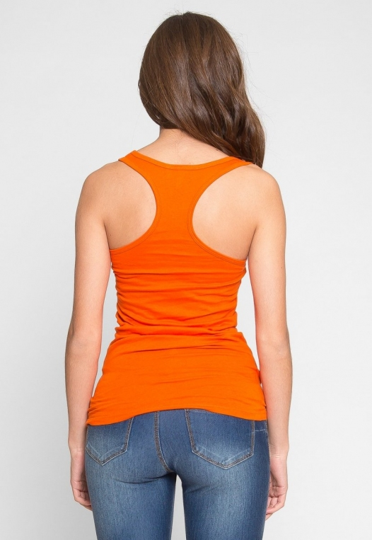Retrograde Tank Top in Orange alternate img #3