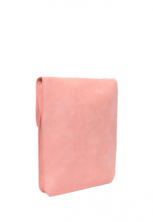 Perforated Nubuck Crossbody Bag in Pink alternate img #3