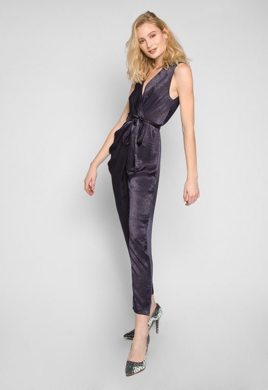 Young & Beautiful Wrap Belted Jumpsuit in Black alternate img #3
