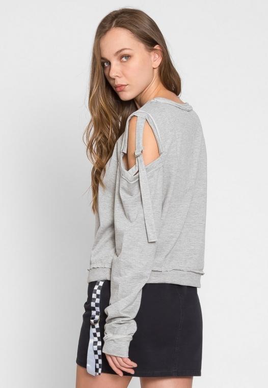 March Cold Shoulder Sweatshirt alternate img #3