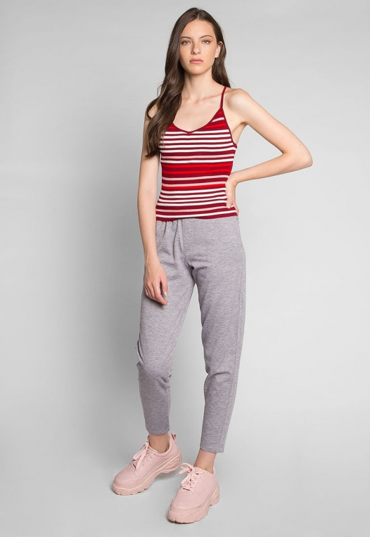 Stripes on Stripes Knit Top in Red alternate img #4