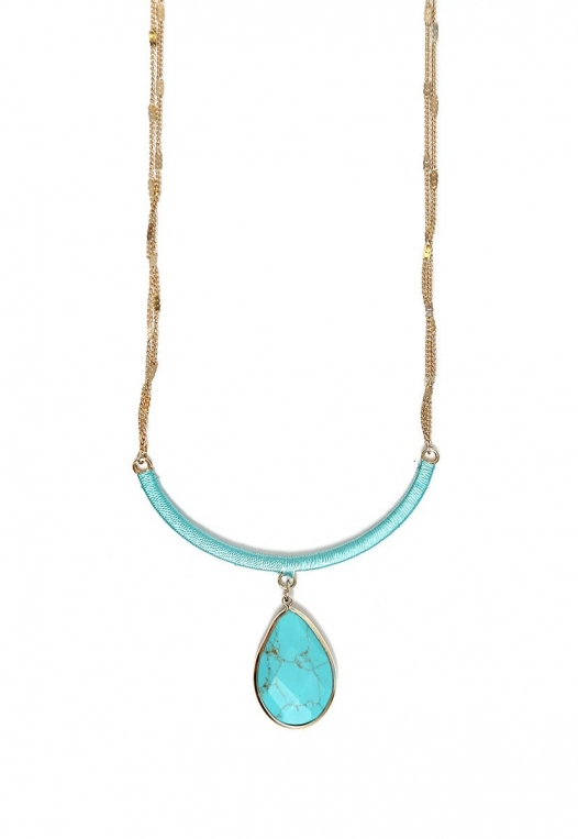 New Mexico Turquoise Tear Drop Necklace alternate img #2