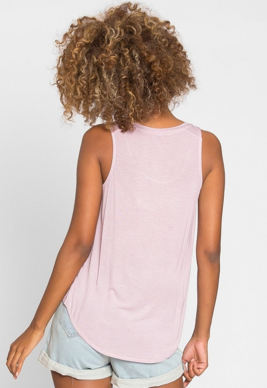 Soft Knit Tank Top in Light Lavender alternate img #3